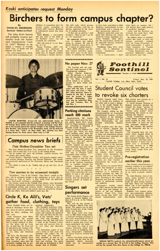 Foothill Sentinel November 20 1964