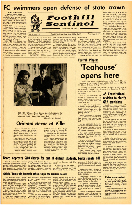 Foothill Sentinel May 8 1964