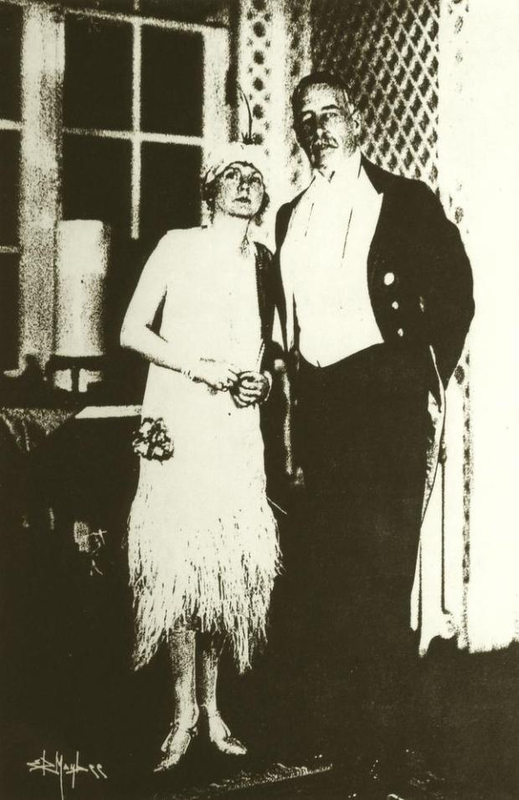 Charles and Virginia Baldwin, owners Le Petite Trianon, also known as The Pavilion. This photo was taken sometime in the 1920s, after they had moved to Colorado.
