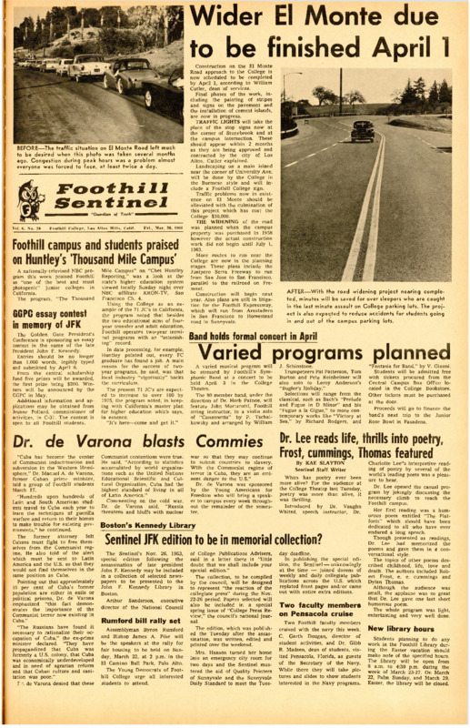 Foothill Sentinel March 20 1964