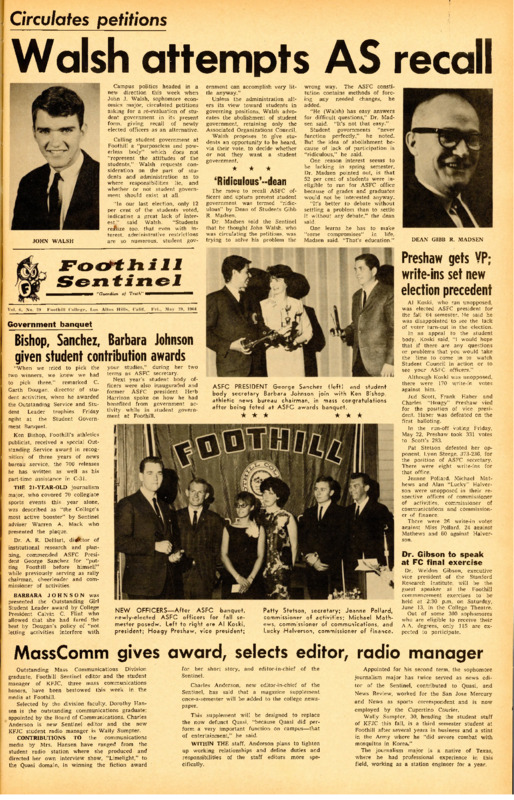 Foothill Sentinel May 29 1964