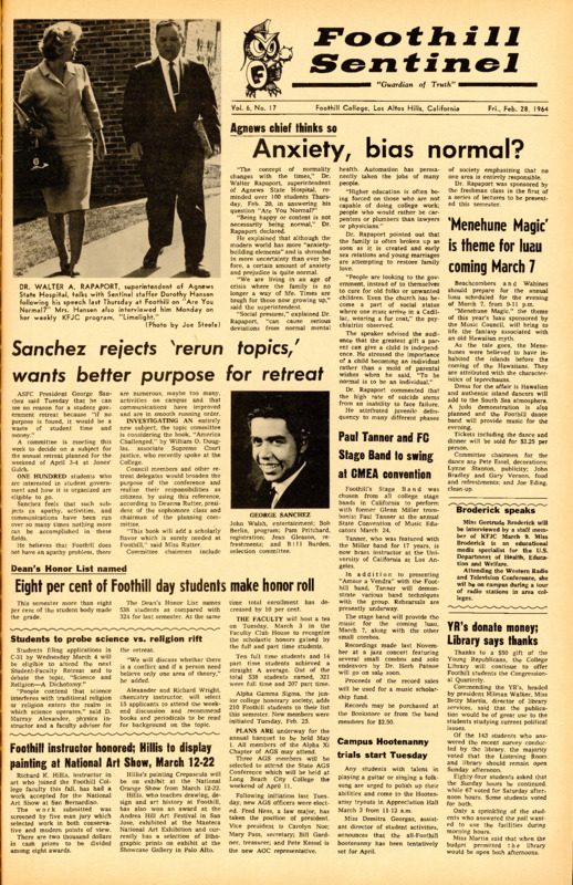 Foothill Sentinel February 28 1964