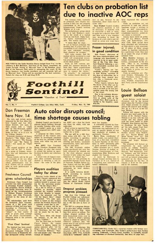 Foothill Sentinel November 13 1964