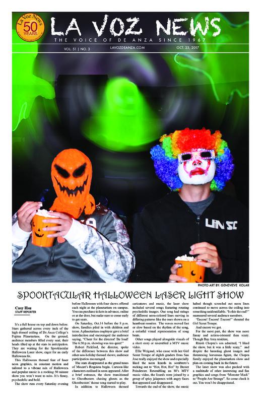 De Anza La Voz October 23 2017