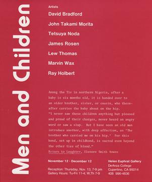 Announcement for 'Men and Children' exhibition.