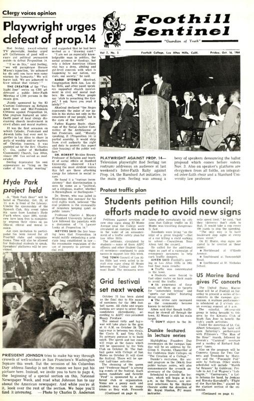 Foothill Sentinel October 16 1964