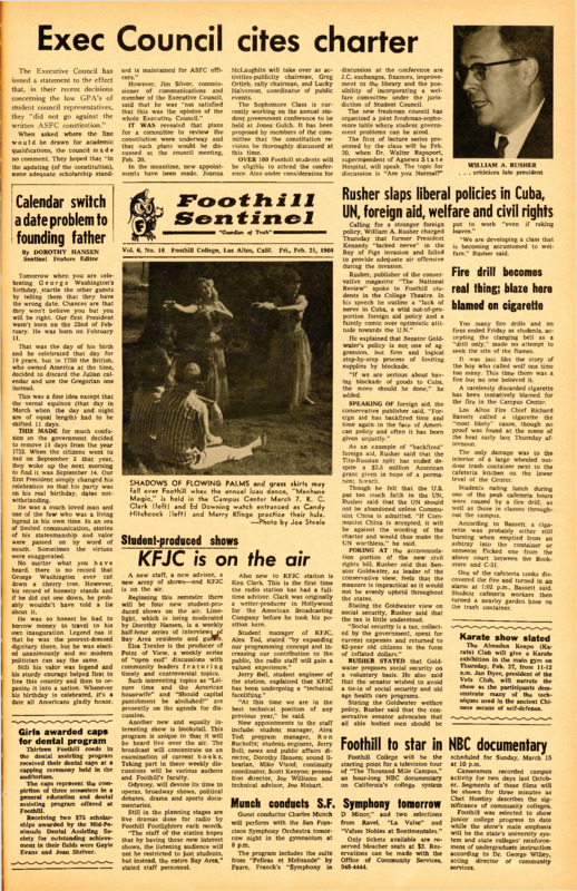 Foothill Sentinel February 21 1964