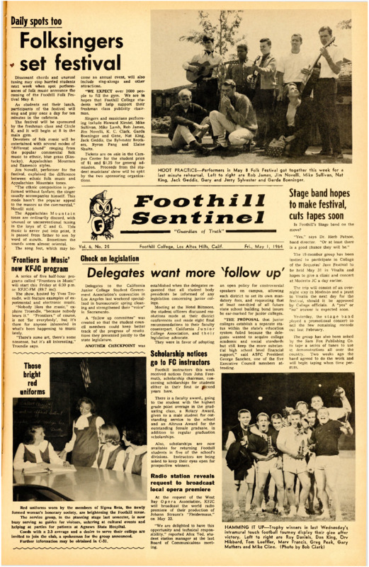 Foothill Sentinel May 1 1964