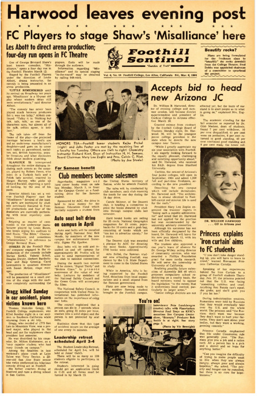 Foothill Sentinel March 6 1964