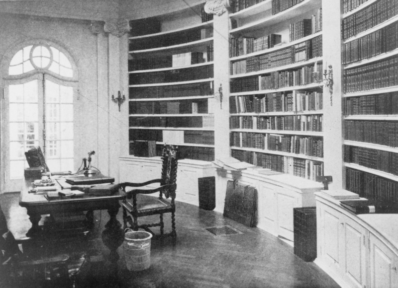The library room of Le Petite Trianon. Date of photo unknown.