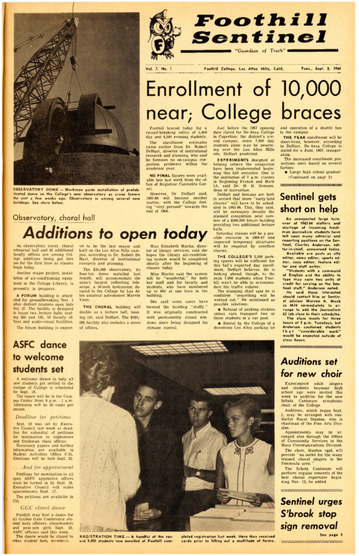 Foothill Sentinel August 8 1964