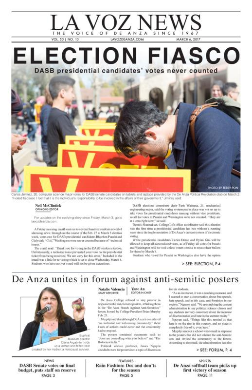 De Anza La Voz March 6 2017