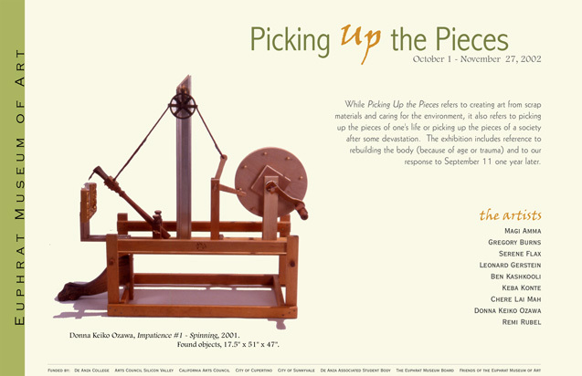 Ozawa's unusual spinning machine made from found objects. Basic show text.