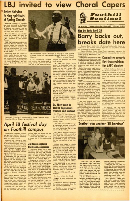 Foothill Sentinel April 10 1964