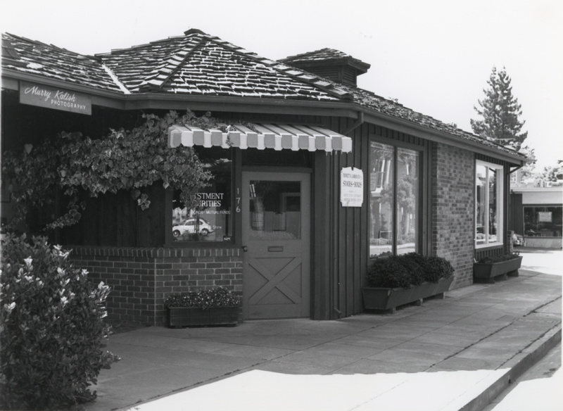 Exterior photo of the location of the first FHDA District Offices at 176 Second Street in downtown Los Altos.