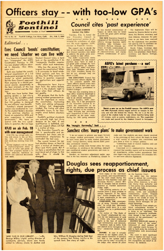 Foothill Sentinel February 7 1964