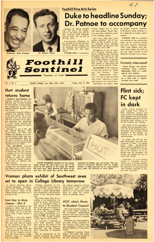 Foothill Sentinel October 2 1964