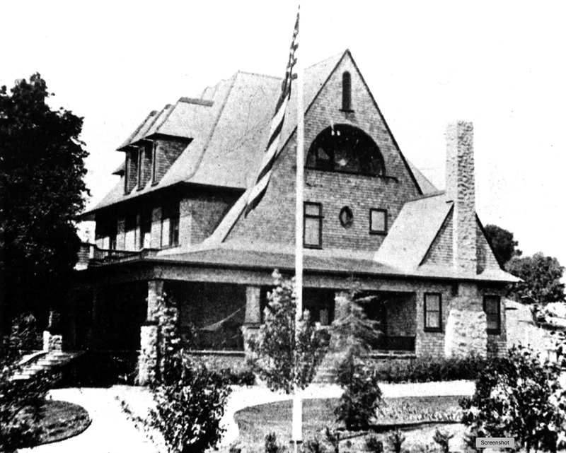 The Griffin family home built in 1901. Date of photo unknown.
