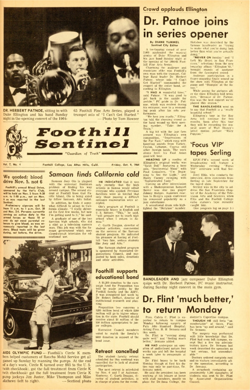Foothill Sentinel October 9 1964