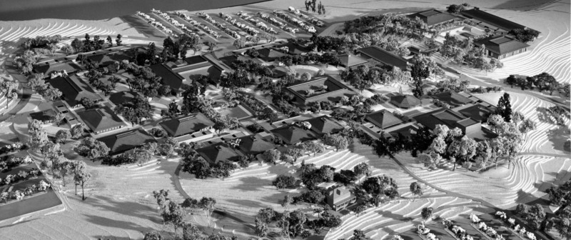 A scale model was created by the architects in 1959 at a cost of $3,800.