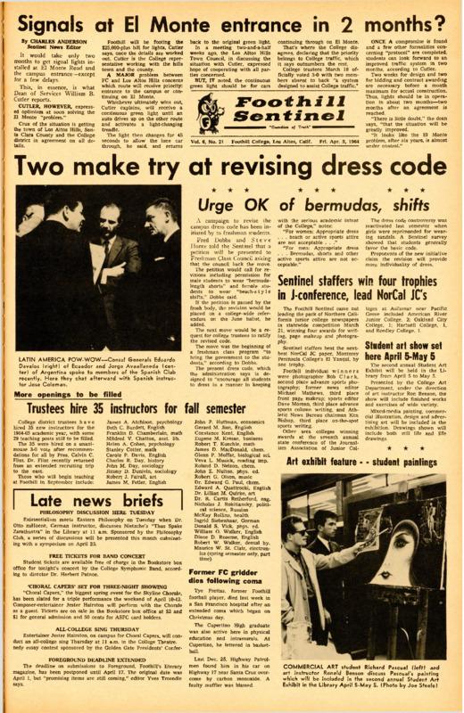 Foothill Sentinel April 3 1964
