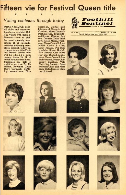 Foothill Sentinel October 30 1964