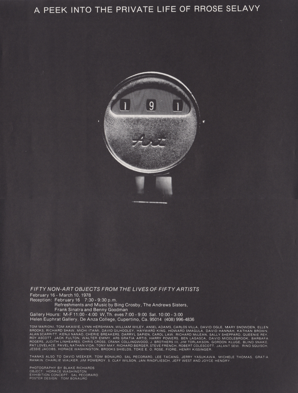 Black poster with central isolated image of an 'Art' gauge/meter with numbers '191.'