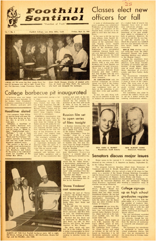 Foothill Sentinel August 25 1964