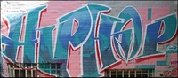 Mural that says Hip Hop.