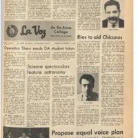 De Anza La Voz October 11 1968