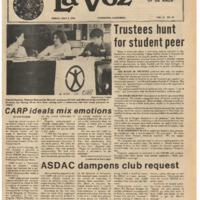 De Anza La Voz May 5 1978