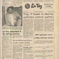 De Anza La Voz May 5 1972