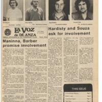 De Anza La Voz November 14 1975