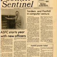 Foothill Sentinel September 30 1983