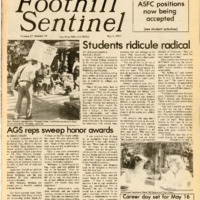 Foothill Sentinel May 3 1985