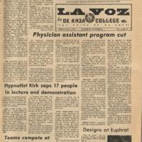 De Anza La Voz May 4 1973