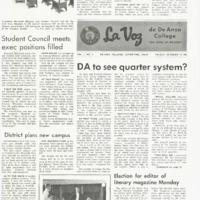 De Anza La Voz October 13 1967