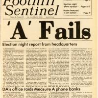 Foothill Sentinel April 13 1984