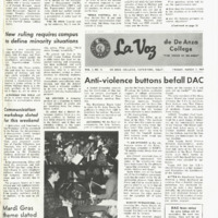 De Anza La Voz March 7 1969