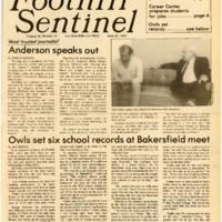 Foothill Sentinel April 20 1984