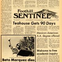 Foothill Sentinel September 21 1970