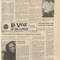 De Anza La Voz November 1 1974