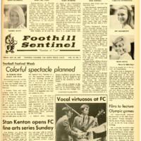 Foothill Sentinel October 20 1967