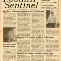 Foothill Sentinel March 9 1984