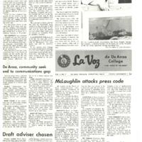 De Anza La Voz November 07 1969