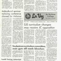 De Anza La Voz December 6 1968