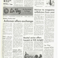 De Anza La Voz January 12 1968