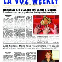 De Anza La Voz April 21 2014