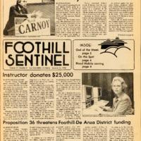 Foothill Sentinel October 26 1984