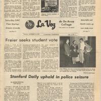 De Anza La Voz October 13 1972